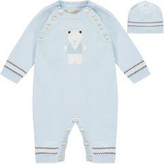 Set Salopeta Bebelusi Teddy in Albastru Deschis