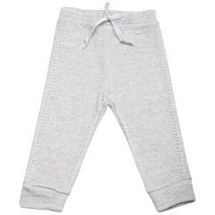 Pantaloni  din lana cu fir sclipitor si pietricele pe laterale