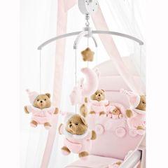 Carusel muzical Puccio roz pentru patut, de la Nanan