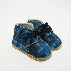 Papuci Clark in Tartan Albastru
