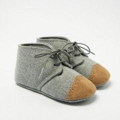Papuci in Tesatura de Lana cu Varf Colorat