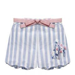 Pantaloni in Dungi cu Broderie de Flori