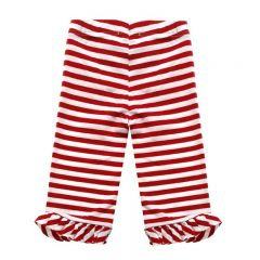 Pantaloni in Dungi Rosii si Volane
