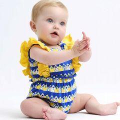 Salopeta Bebelusi Fete cu Volanase