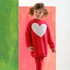 Rochita Rosie  Fete cu Inima Mare Alba cu Ciorapi