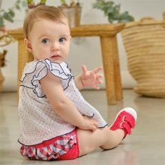 Set Bebelusi Fete cu Pantalonasi in Carouri