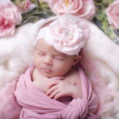 Bentita cu Trandafir , Perle si Pietre Sclipitoare