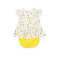 Rochita cu Chilotei Yellow Bebelusi Fete