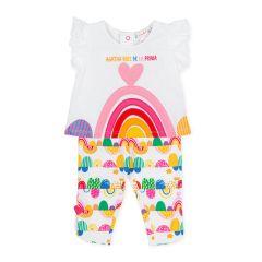 Set Fete Rainbow cu Pantalonasi, Agatha